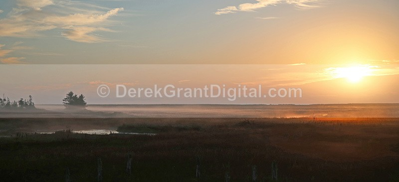 Fundy Salt Marsh St. Martins New Brunswick Canada - Sunset/Moonrise