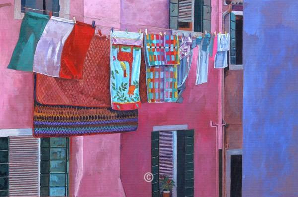 Washing at Burano. - Italia
