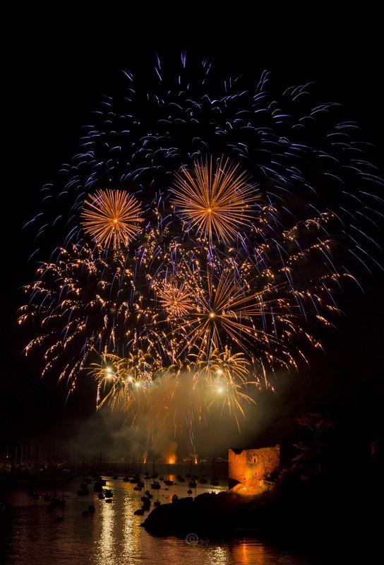 2013 Fowey Regatta Fireworks - Cornwall