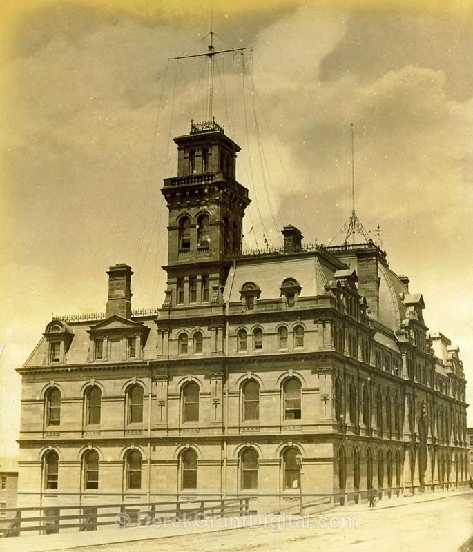 Customs House Saint John, New Brunswick Circa 1880 Albumen - Historic New Brunswick