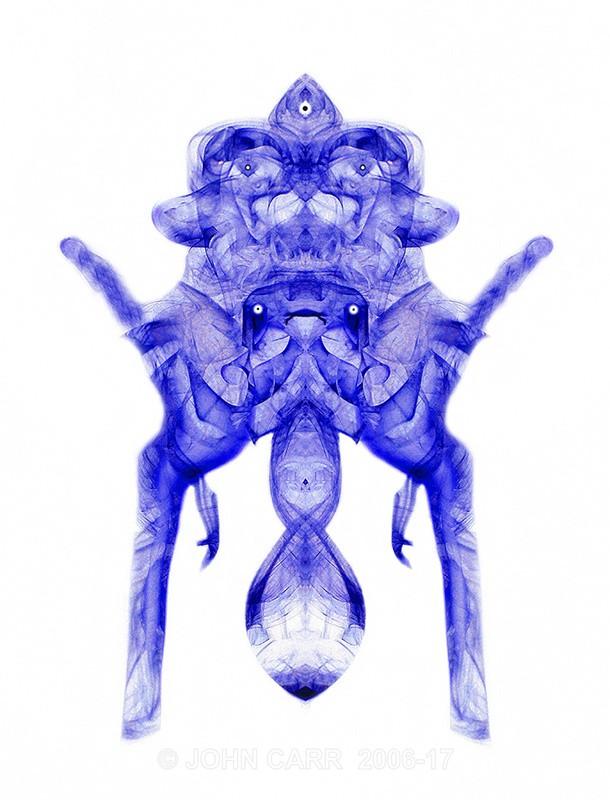 Blue Alien Bed Bug-0542 - SMOKE ART( The Alien invasion) PHOTOS
