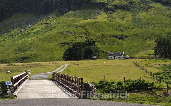 Achnambeithach cottage, Glencoe, Highland, Scotland. - Highland