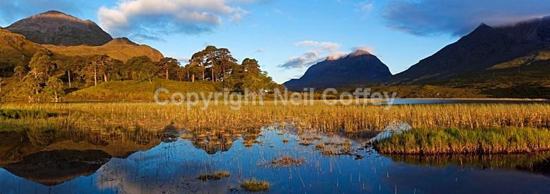 Loch Clair, Glen Torridon, Highland - Panoramic format