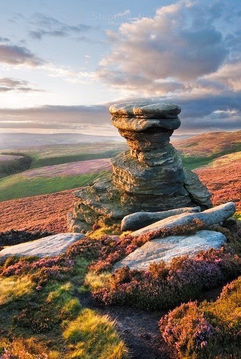 Derwent Edge, Peak District | Salt Cellar Autumn Sunset