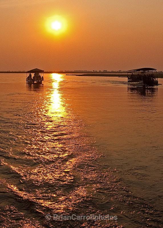 Sunset cruise along the Chobi river, Botswana - African Safari Tour 09 Zambia, Botswana,Namibia & South Africa