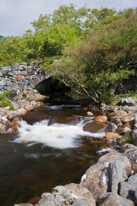 bridge and waterfall - Mull and Iona