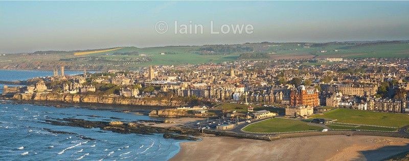 Aerial St Andrews Old & Town - Scottish Links Aerial Images