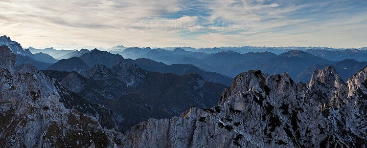 Mangrt Pass Evening Panorama | Mountain Pass in Slovenia
