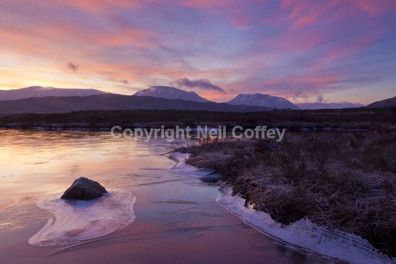 Loch Ba sunrise, Rannoch Moor, Highland2 - Landscape format