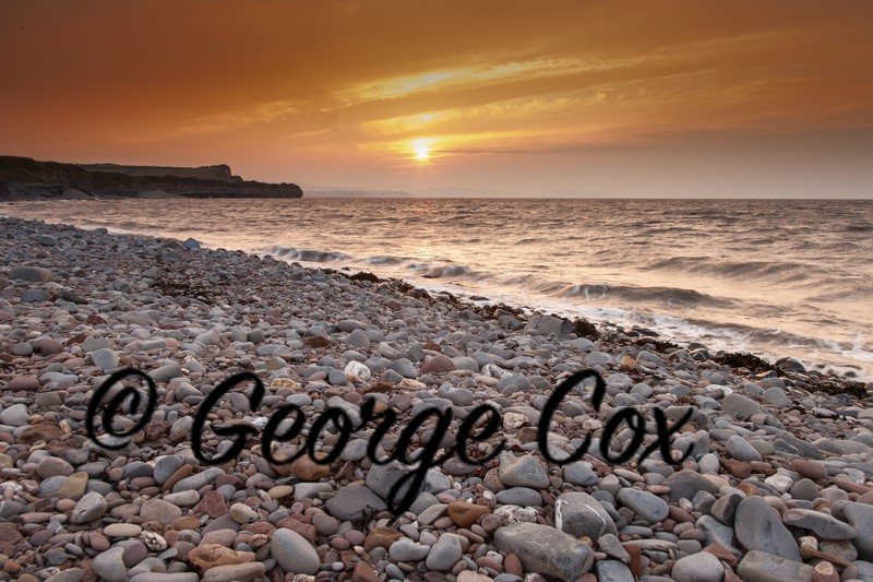 Kilve Beach Sunset from the Beach - Landscapes