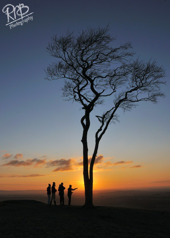 Watching the Sunset - Roundway Hill - Wiltshire & West Country Landscapes