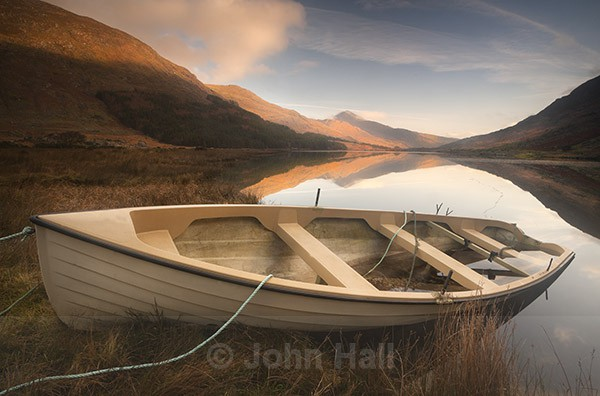 Abandoned Boat At Sunrise, Black Valley, Co. Kerry, Ireland.