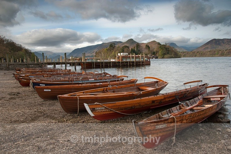 Rowing Boats on Derwentwater. - Lakedistrict