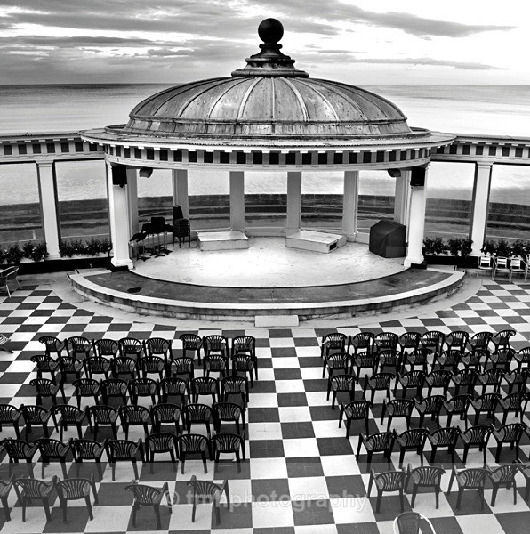Scarborough pavillion. - Monochrome Photograph's
