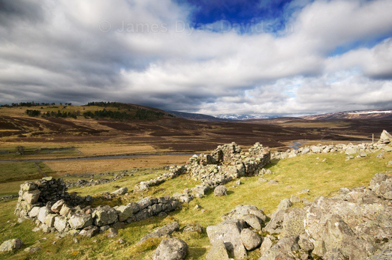 Old village ruins at Tullochmacarrick - Glen Gairn