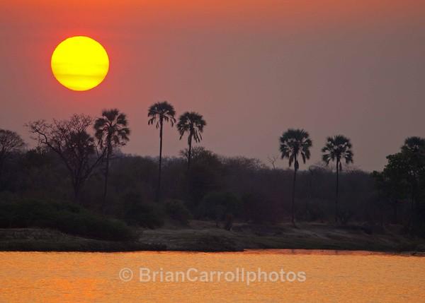 Sunset on the River Zambesi Zambia - African Safari Tour 09 Zambia, Botswana,Namibia & South Africa