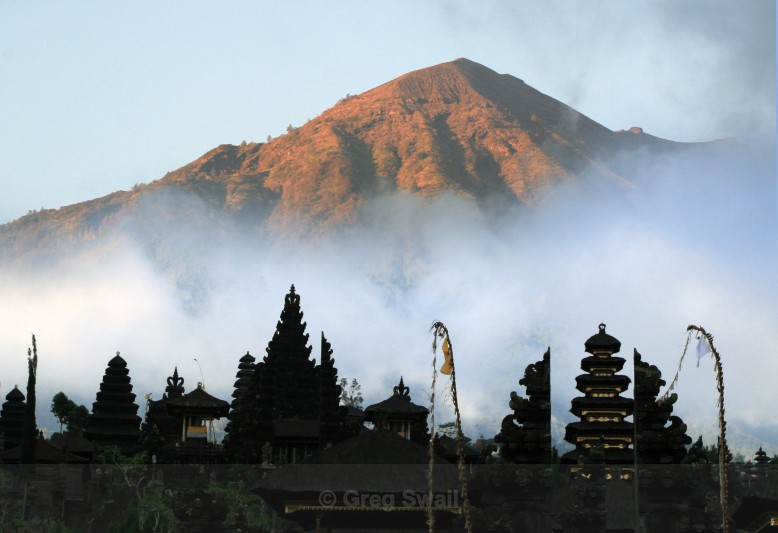 Last light on Gunung Agung - Bali's Culture and Characters