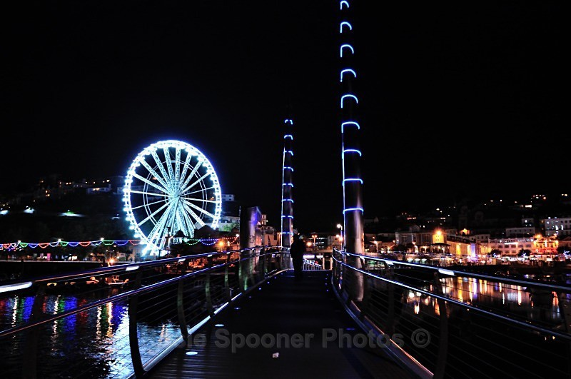Big Wheel and Bridge at night - Torbay