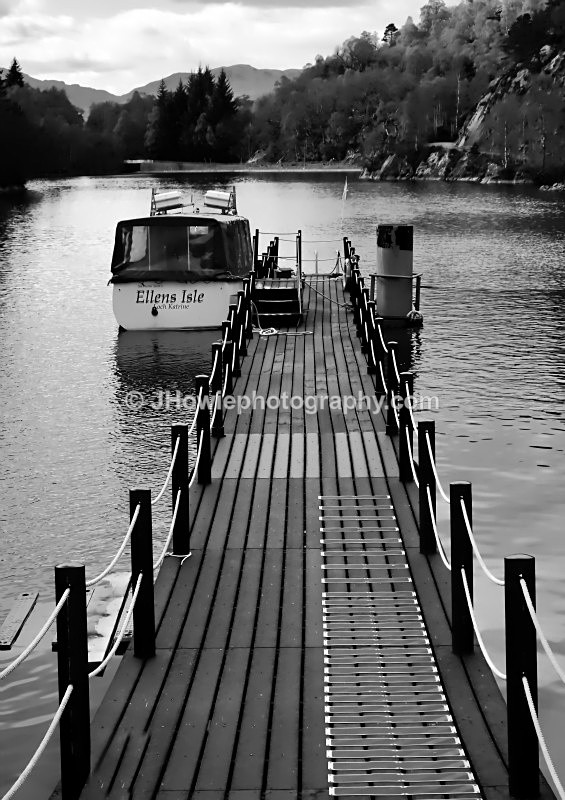 Loch Katrine Jetty - Black & White