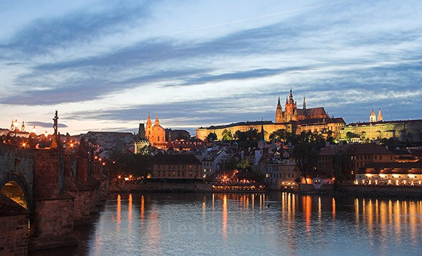 Castle at night - Prague