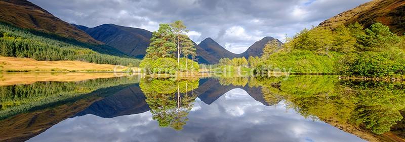 Lochan Urr, Glen Etive, Highland - Panoramic format