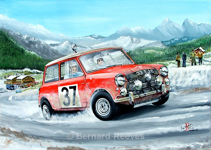 Paddy Hopkirk and Henry Liddon Monte Carlo Rally 1964 - Rally cars & drivers
