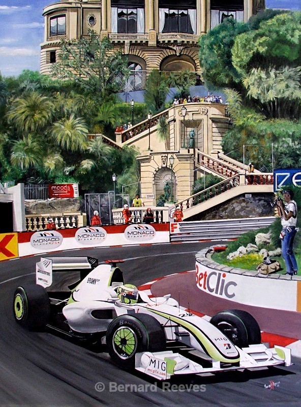 Jenson Button at Monaco 2009 - Formula 1 cars and drivers