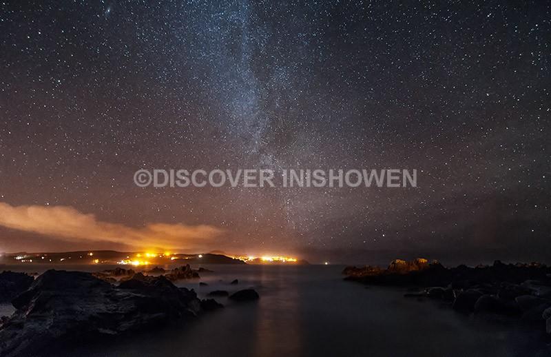 Milky way above Culdaff Bay - Inishowen peninsula