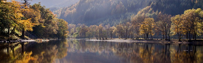 Loch Lubnaig autumn trees2 - Stirling and the Trossachs
