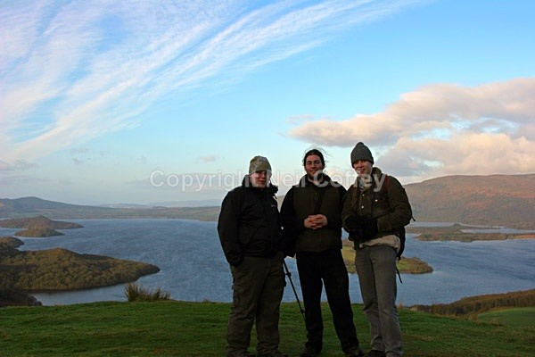 Me (right) on Conic Hill with friends Andrew and Gareth, April 2005 - Personal