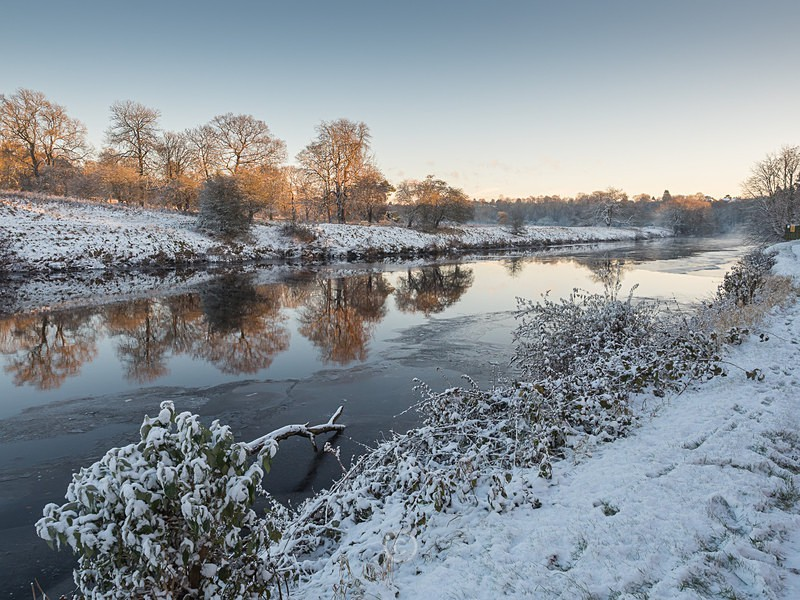Winter on the River Tees - YARM-on-Tees, Cleveland