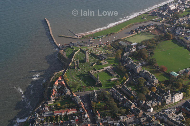 St Andrews Cathedral - St Andrews Town Aerial