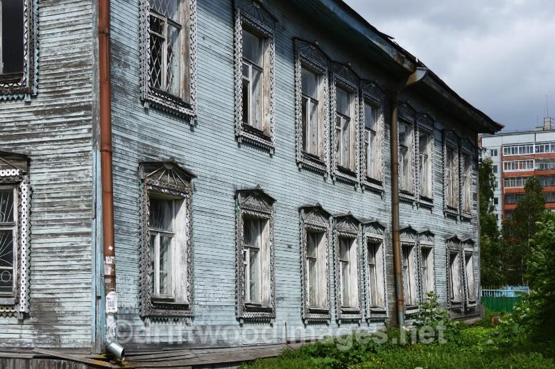 Archangel wooden building - Archangel, Russia