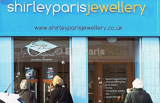 shop front larkhall south lanarkshire of shirley paris jewellery