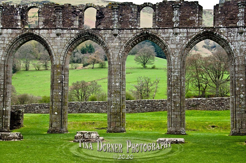 Cloisters, Llantony Priory by Tina Dorner Photography, Forest of Dean and Wye Valley, Gloucestershire
