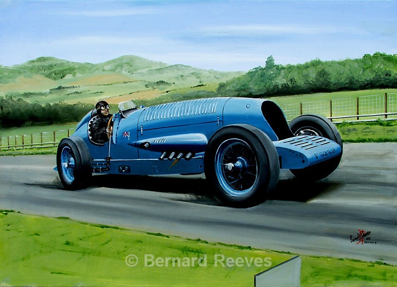 Bluebird Napier reproduction by Lorne Jacobs - Malcolm Campbell and Bluebird
