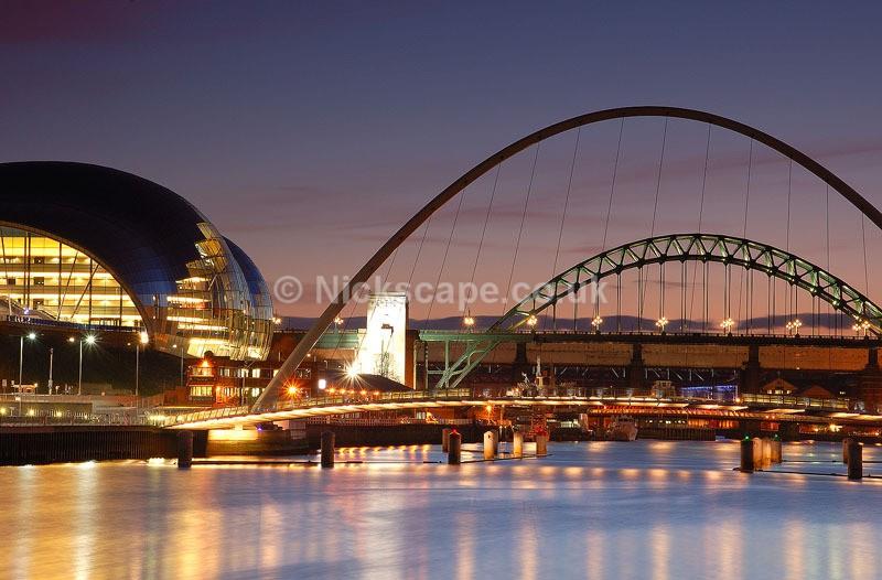 Architecutre Cityscape from the Newcastle Gateshead Quayside