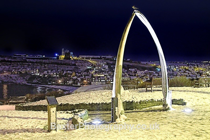 Winter At The Whale Bone Arch - Whitby