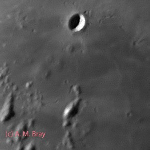 Hortensius, lunar volcanoes - Moon: West Region