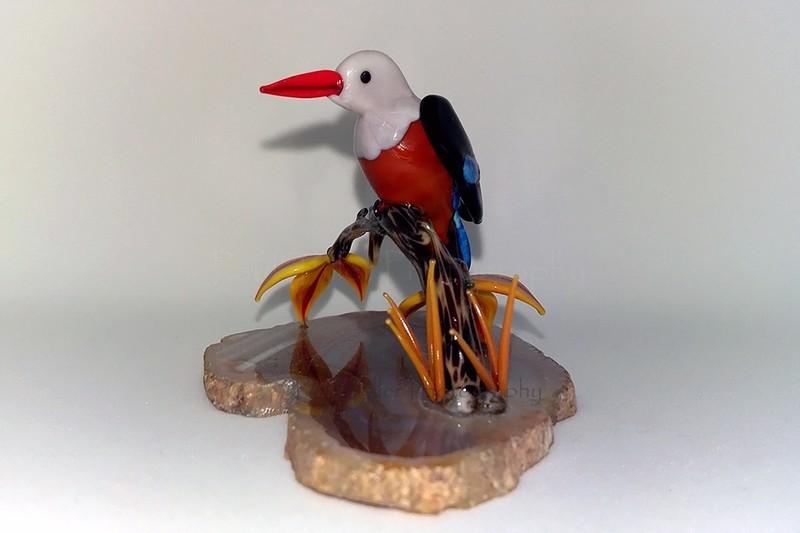 Grey headed kingfisher - The art of glass