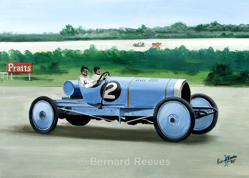 4L Ballot The first Bluebird Brooklands - Malcolm Campbell and Bluebird
