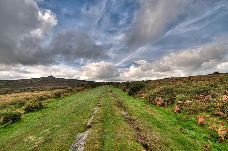 Ancient Tramway looking towards Haytor - Dartmoor
