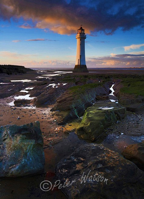 New Brighton Lighthouse Wirral England - Seascapes