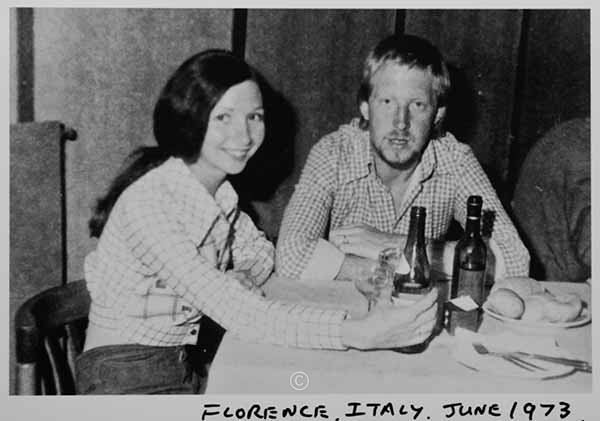 Trattoria, Firenze, 1973. - 1972 'Bluey Things' David Pettigrew D.A.