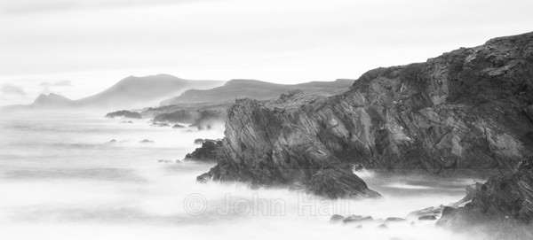 Fine Art Monochrome Of Achill Island Panoramic, Co. Mayo, Ireland.