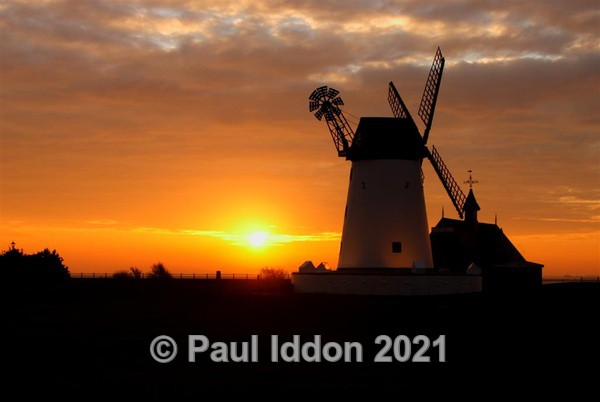 The Windmill at Sunrise - Landscapes