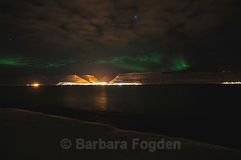 Northernlight over Longyearbyen 5184 - Polar night