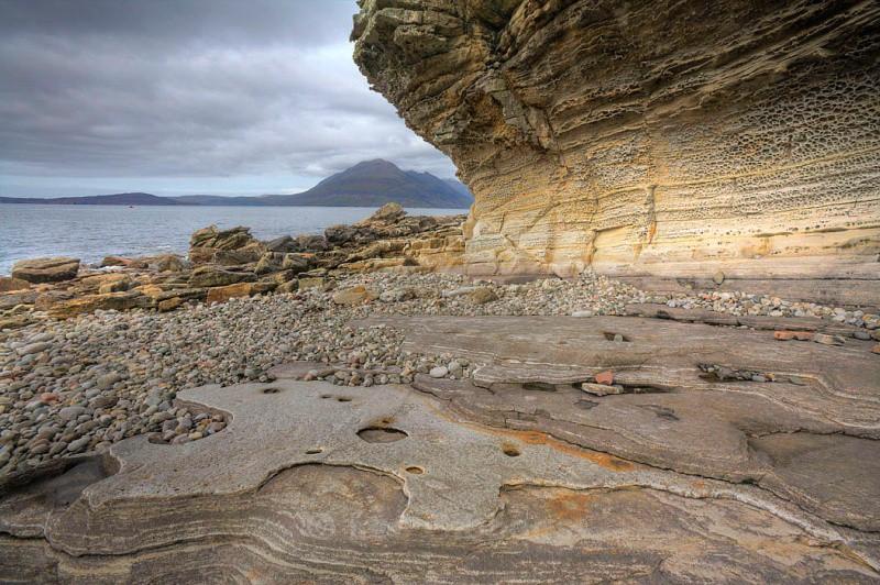Rockface at Elgol - Highlands and Islands