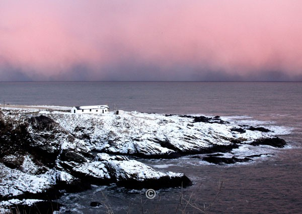 Pink Sky, Old Portlethen. - Photographs of Old Portlethen.