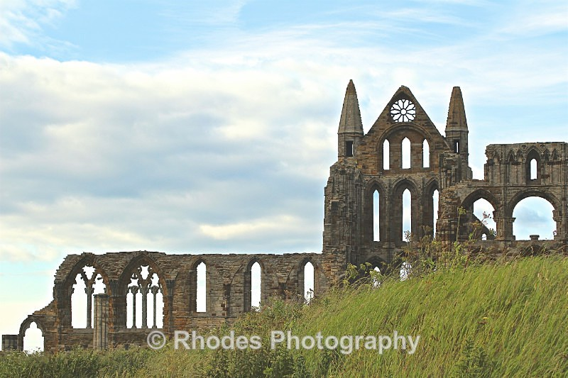 The Rose Window at Whitby Abbey - Landscape Shop